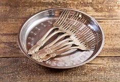 Vintage silverware Stock Photo