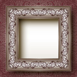 Vintage silvery floral frame Royalty Free Stock Photography