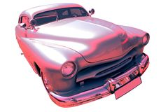 Vintage Silvery-Pink Car 50-60th Royalty Free Stock Image