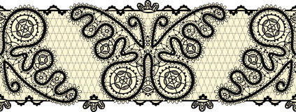 Vintage simless lace border Stock Images