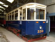 Vintage Single Deck Tram Royalty Free Stock Photo