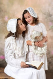 Vintage sisters portrait Royalty Free Stock Images