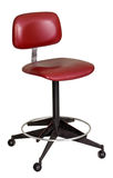 Vintage sixties red revolving stool Royalty Free Stock Photos