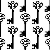Vintage skeleton keys seamless pattern Stock Photo
