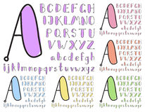 Vintage sketch alphabet Stock Image