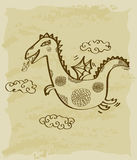Vintage sketch of dragon Royalty Free Stock Photography
