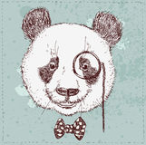 Vintage sketch  illustration of panda bear Royalty Free Stock Image