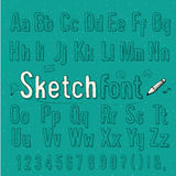 Vintage sketch style alphabet, vector & illuatrati Stock Image