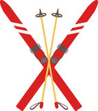 Vintage Ski Poles Royalty Free Stock Images