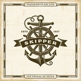 Vintage Skipper Label Royalty Free Stock Images