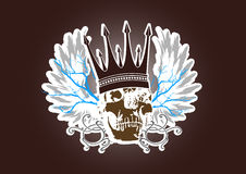 Vintage skull emblem Royalty Free Stock Images