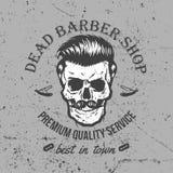 Vintage Skull Label Design Stock Image