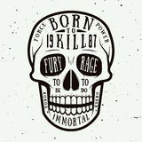 Vintage skull label, emblem and logo. Royalty Free Stock Photos