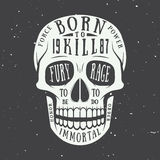 Vintage skull label, emblem and logo. Vector illustration Royalty Free Stock Images