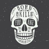Vintage skull label, emblem and logo. Vector illustration Royalty Free Stock Images
