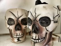 Vintage Skull Mugs Royalty Free Stock Photography