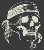 Vintage Skull. Vector illustration Stock Image