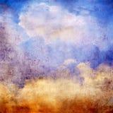Vintage sky. Old paper texture - vintage sky Royalty Free Stock Images