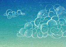 Vintage Sky background. Clouds Stock Photos