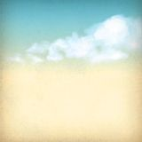 Vintage sky clouds old paper textured background Royalty Free Stock Images