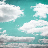 Vintage Sky Cloudscape. Cloudscape with vintage effects royalty free illustration