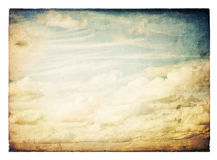Vintage sky image, isolated. Royalty Free Stock Photos