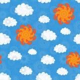 Vintage Sky Seamless Pattern Stock Photo