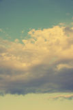 Vintage sky-vertical. Vintage or instagram filter sky with cloud stock photo