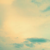 Vintage sky. Yellow and blue Stock Photos