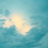 Vintage sky. Yellow and blue Royalty Free Stock Photos