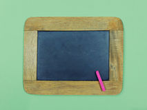 Vintage slate chalkboard and pink chalk pastel Stock Image