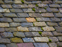 Vintage Slate Tile Roof Royalty Free Stock Photos