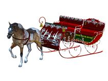 Vintage sleigh Stock Images