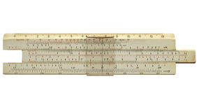 Vintage slide ruler Royalty Free Stock Image