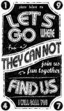 Vintage Slogan Man T shirt Graphic Vector Design Royalty Free Stock Photo