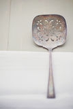 Vintage slotted spoon Royalty Free Stock Photo