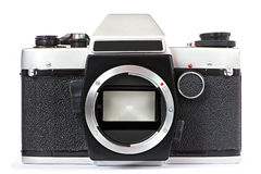 Vintage SLR camera without lens Stock Photo