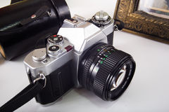 Vintage SLR Camera Royalty Free Stock Image