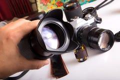 Vintage SLR Camera Royalty Free Stock Photography