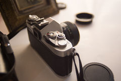 Vintage SLR Camera Royalty Free Stock Images