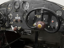 Vintage Small Airplane Cockpit Royalty Free Stock Images