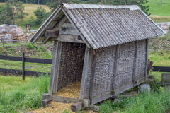 Vintage small barn for hay and straw Stock Images