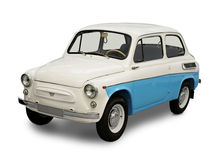 Vintage small car. From USSR isolated with clipping path Royalty Free Stock Photo