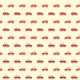 Vintage small red car pattern Stock Photography