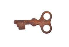 Vintage small rusty key Royalty Free Stock Images