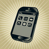 Vintage Smartphone Illustration Royalty Free Stock Images