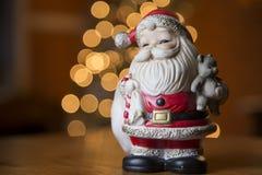 Vintage smiling Santa Stock Image