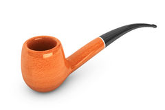Vintage Smoking Tobacco pipe. On a white background Stock Image