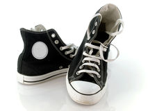 Vintage sneakers. Vintage black and white sneakers Royalty Free Stock Photo