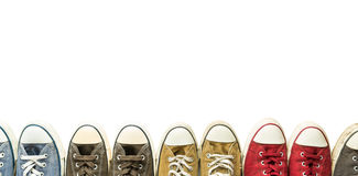 The vintage sneakers. Stock Photography